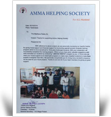 Certificate Amma Helping Society